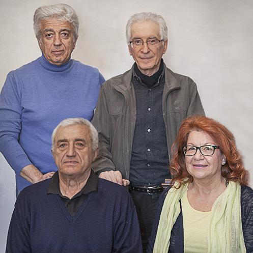 Flavio Fabbri, Silvano Tiberi, Giancarlo Ugolini e Bianca Maria Capriotti